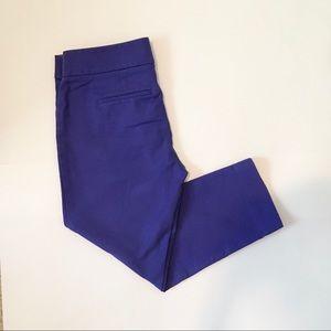 LOFT royal purple ankle pants